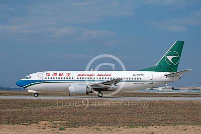 B737 00175 Boeing 737-300 Schenzhen Airline B-2972 October 2002 via African Aviation Slide Service