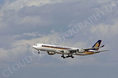 A340 00010 Airbus A340-300 Signapore Airlines 9V-SGB by Peter J Mancus