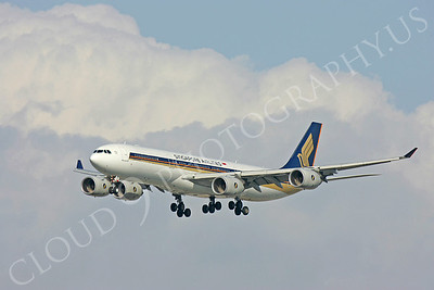 A340 00096 A340-300 Signapore Airline by Peter J Mancus