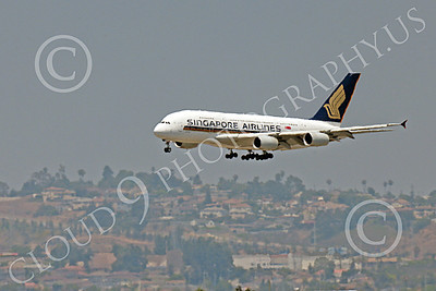 A380 00128 An Airbus A380 Singapore Airline on final approach to land at LAX 7-2013 jet airliner picture by Peter J Mancus