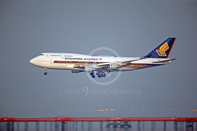 BOEING 747 00064 BOEING 747 SIGNAPORE AIRLINES 9V-SPF by Peter J Mancus