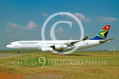 A340 00001 Airbus A340-200 SOUTH AFRICAN # ZS-SLE 2004 via AASS