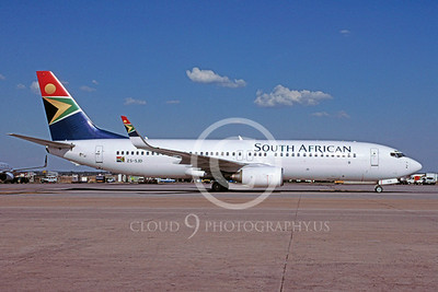 B737 00180 Boeing 737 South African Airline ZS-SJD February 2002 via African Aviation Slide Service