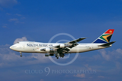 B747 00094 Boeing 747 South African Airline ZS-SAM July 1999 by Michel Saint-Felix