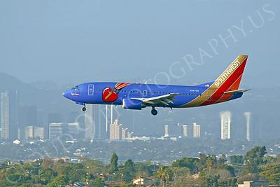 B737 00140 Boeing 737 Southwest Airline Triple Crown N647SW by Peter J Mancus