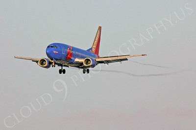 B737 00024 Boeing 737 Southwest Airline Triple Crown N647SW by Peter J Mancus