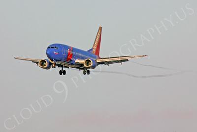 B737 00024 Boeing 737 Southwest Airline Triple Crown N647SW by Peter J Mancus
