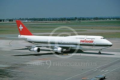 B747 00079 Boeing 747 Swiss Air N221GE May 1989 via African Aviation Slide Service