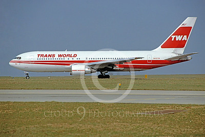 B767 00025 Boeing 767 TWA N605TW April 1993 by Stephen W D Wolf