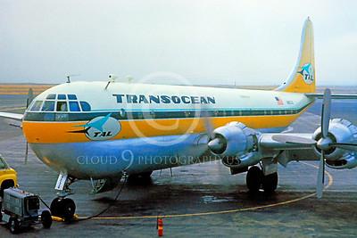B377 00001 Boeing 377 Stratoliner Transocean June 1959 by William T Larkins