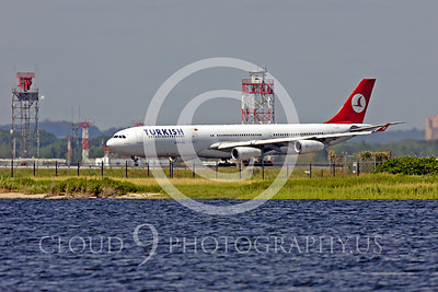 A340 00013 Airbus A340 Turkish Airline by Peter J Mancus