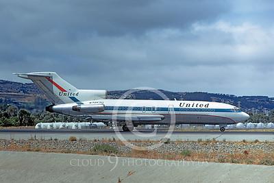 B727 00031 Boeing 727 United N7057U August 1972 by William T Larkins