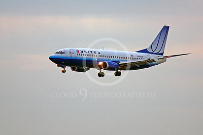 B737 00408 Boeing 737 United N372UA by Peter J Mancus