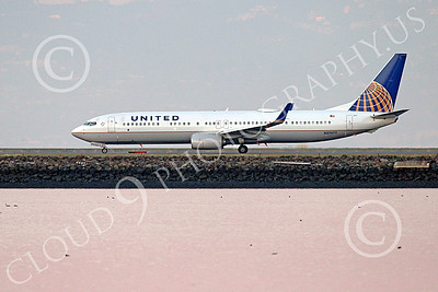 Boeing 737 00224 A United Airline Boeing 737 N27477 on SFO's runway for take-off 12-2014 airliner picture by Peter J Mancus