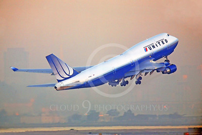 B747 00190 Boeing 747 United Airline by Peter J Mancus