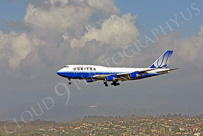 B747 00092 Boeing 747-400 United Airline by Peter J Mancus