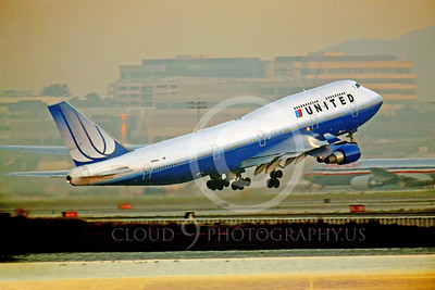B747 00154 Boeing 747 United Airline by Peter J Mancus