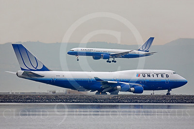 B747 00272 Boeing 747 United N174UA by Peter J Mancus