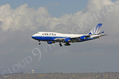 B747 00012 Boeing 747-400 United Airlines by Peter J Mancus