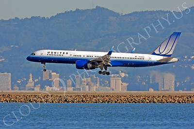 B757 00380 Boeing 757 United N518UA by Peter J Mancus