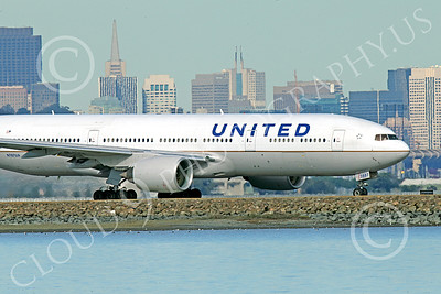 B777P 00503 A Boeing 777 United Airline taxis at SFO 12-2014 airliner picture by Peter J Mancus