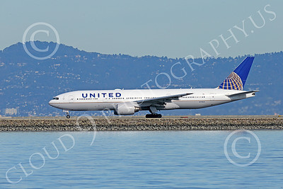 B777P 00507 A Boeing 777 United Airline N772UA ready for take-off at SFO 12-2014 airliner picture by Peter J Mancus