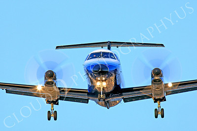 FFAL 00066 A head-on United Express Embraer EMB-120 Brasilia landing airliner picture, by Peter J Mancus