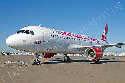 A320 00065 Airbus A320 Virgin America N627VA Runway Angel Victoria's Secret by Tim P Wagenknecht