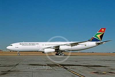 A340 00005 Airbus A340 South African ZS-SLB June 2003 via African Aviation Slide Service