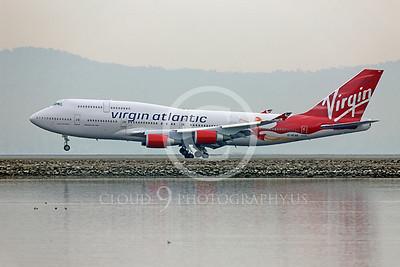 B747 00301 Boeing 747 Virgin Atlantic Lady Penelope G-VFAB by Peter J Mancus