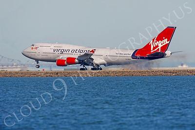 B747 00596 Boeing 747 Virgin Atlantic G-VROC by Peter J Mancus
