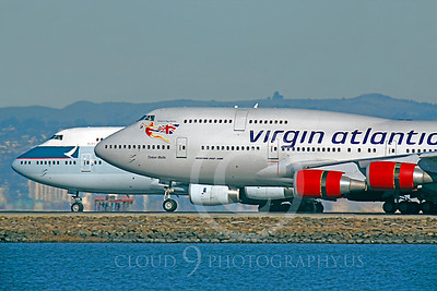 CUNALPJ 00007 Boeing 747 Virgin Atlantic and Cathay Pacific by Peter J Mancus