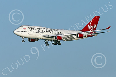 B747 01524 A Boeing 747 Virgin Atlantic on final approach to land at SFO airliner picture by Peter J Mancus
