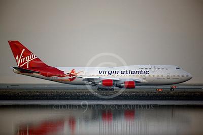 BOEING 747 00013A BOEING 747-400 VIRGIN AIRWAYS G-VFAB by Peter J Mancus