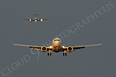 FFAL 00007 A head-on Westair Boeing 737 about to land airliner picture, by Peter J Mancus