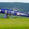 WB-Sea Fury 00063 A blue Hawker Sea Fury fighter taxis on beautiful grass warbird picture by Stephen W  D  Wolf