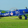 WB-Sea Fury 00015 A taxing blue Hawker Sea Fury fighter Austrailian Navy warbird picture by Stephen W  D  Wolf