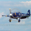 WB-Sea Fury 00068 A landing blue Hawker Sea Fury fighter warbird picture by Stephen W  D  Wolf