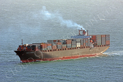 CCS 00001 Civilian cargo ship Santa Monica approaching San Francisco by Peter J Mancus