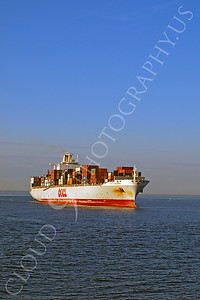 CCS 00003 Civilian cargo ship OOCL Hong Kong, in New York harbor, by John G Lomba