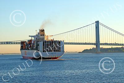 CCS 00024 Civilian cargo ship OOCL Hong Kong, in New York harbor, by John G Lomba