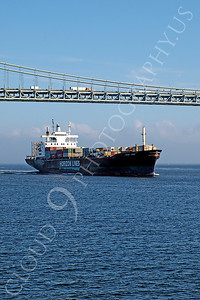 CCS 00005 Civilian cargo ship HORIZON TRADER, Horizon Lines, in New York harbor, by John G Lomba