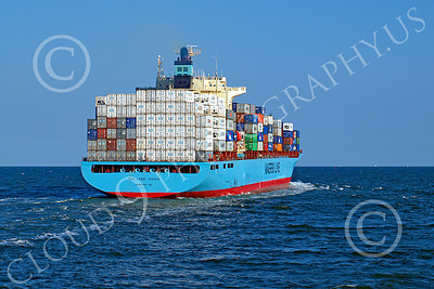 CCS 00020 Civilian cargo ship SEA LAND EAGLE, Norfolk VA, Maersk Line, by John G Lomba