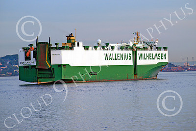 CCS 00008 Civilian cargo ship DON CARLOS, Stockholm, Wallenius Willhelmsen, by John G Lomba
