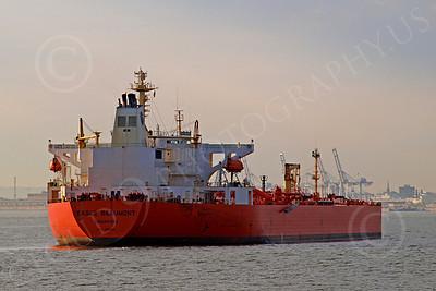 COTS 00006 Civilian oil tanker ship EAGLE BEAUMONT Signapore, by John G  Lomba