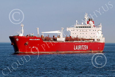 COTS 00022 Civilian oil tanker ship FREJA ATLANTIC, Lauritizen, by John G Lomba