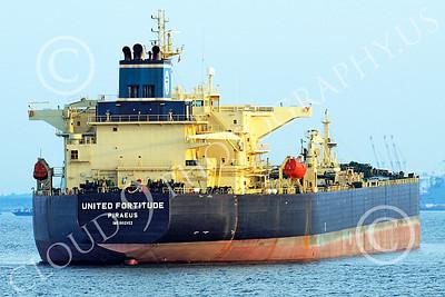 COTS 00020 Civilian oil tanker ship UNITED FORTITUDE, Piraeus, by John G Lomba