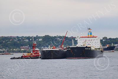 COTS 00021 Ciivilian oil tanker ship PACIFIC RUBY in New York Harbor, by John G Lomba