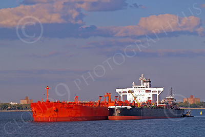 COTS 00025 Ciivilian oil tanker ship SPT EXPLORER in New York Harbor, by John G Lomba