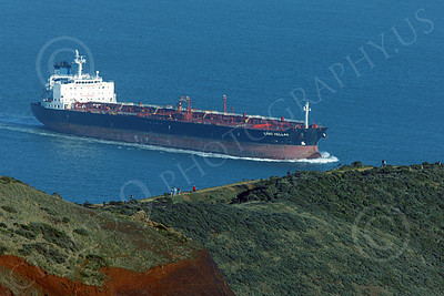 COTS 00131 The oil tanker CABO HELLAS inside San Francisco Bay, by Peter J Mancus